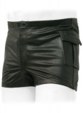 Leather Cargo Shorts