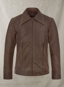 Vintage Brown Grain X Men Days of Future Past Leather Jacket