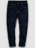 Dark Blue 14.5oz Heavy Denim Jeans - Hard Wash