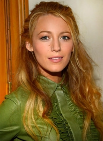 Blake Lively Leather Shirt