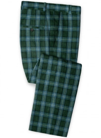 Solbiati Green Glen Linen Pants