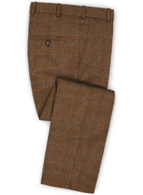 Saga Rust Feather Tweed Pants