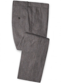 Solbiati Raw Brown Linen Pants