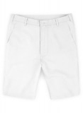 Safari White Cotton Linen Shorts