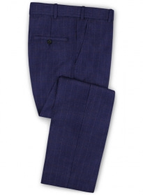 Tap Blue Cotton Wool Stretch Pants