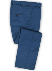 Bottle Blue Flannel Wool Pants
