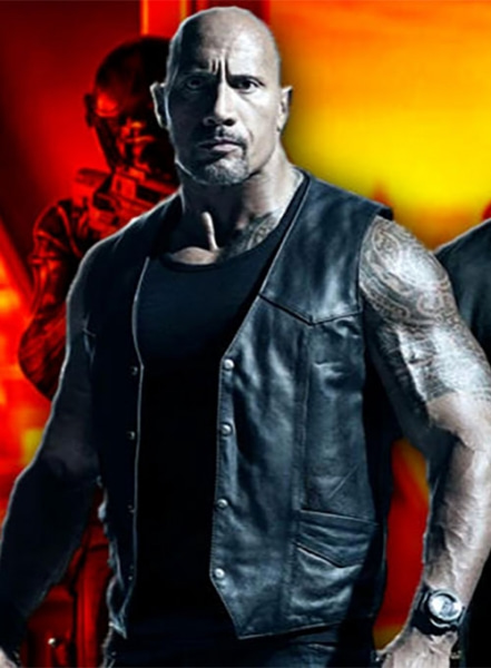 Dwayne Johnson The Fate Of The Furious Leather Vest