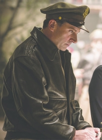 Steve Carell Welcome to Marwen Bomber Leather Jacket