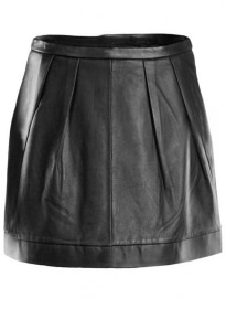 Seamed Leather Skirt - # 453