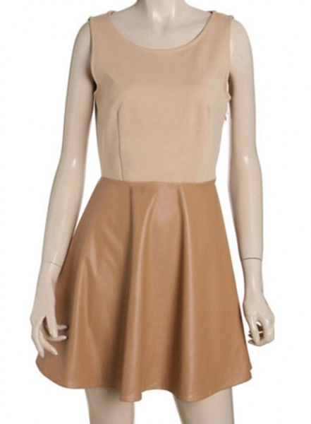 Flippy Leather Dress - # 776
