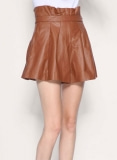Stone Wrap Leather Skirt - # 125
