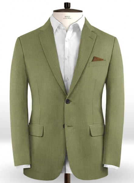 Scabal Fern Green Wool Jacket