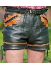 Leather Cargo Shorts Style # 364