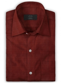 Giza Rich Wine Cotton Shirt - Full Sleeves