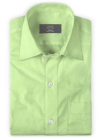 Italian Cotton Twill Green Shirt