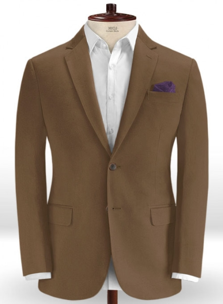 Brown Stretch Chino Jacket