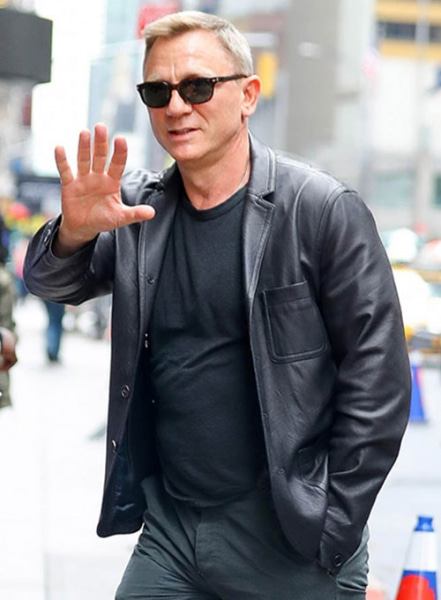 Daniel Craig Leather Blazer