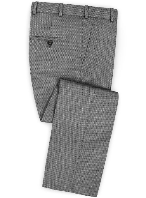 Birdseye Wool Light Gray Pants