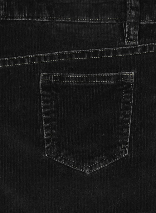 Slate Black Corduroy Stretch Jeans - Denim-X