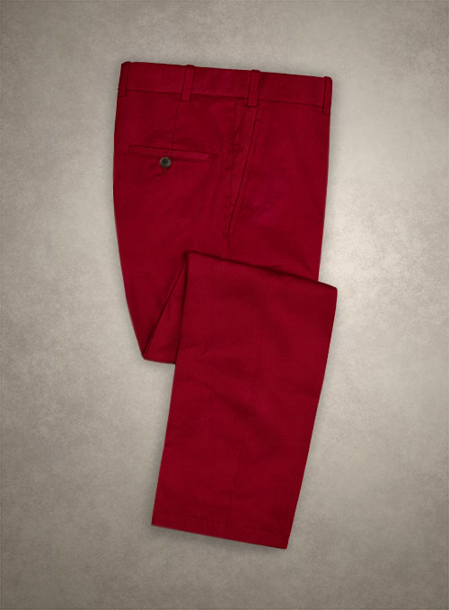 Caccioppoli Canvas Red Cotton Pants