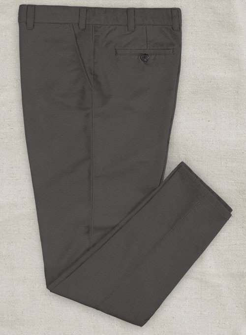 Charcoal Gray Stretch Chino Pants