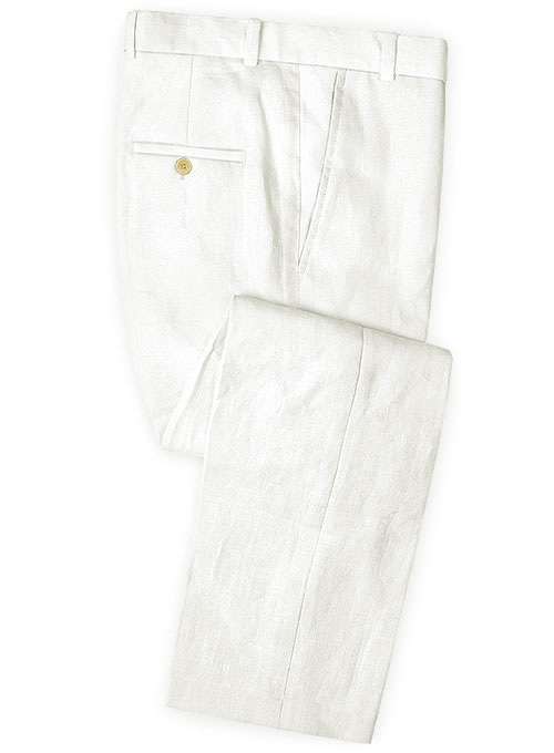 Safari Ivory Cotton Linen Pants