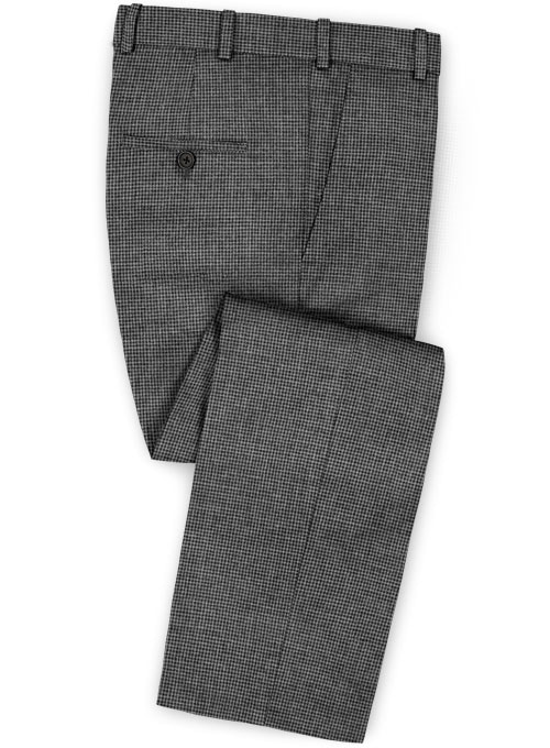 Dogtooth Wool Gray  Pants