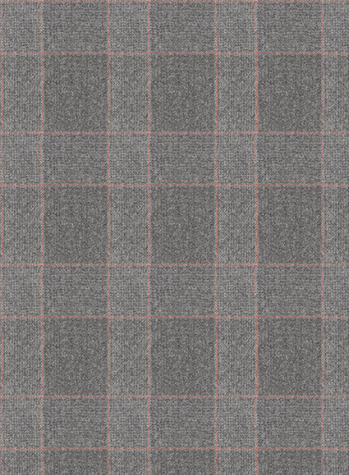 Gray Mont Checks Flannel Wool Pants