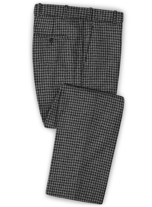 Harris Tweed Houndstooth Gray Pants