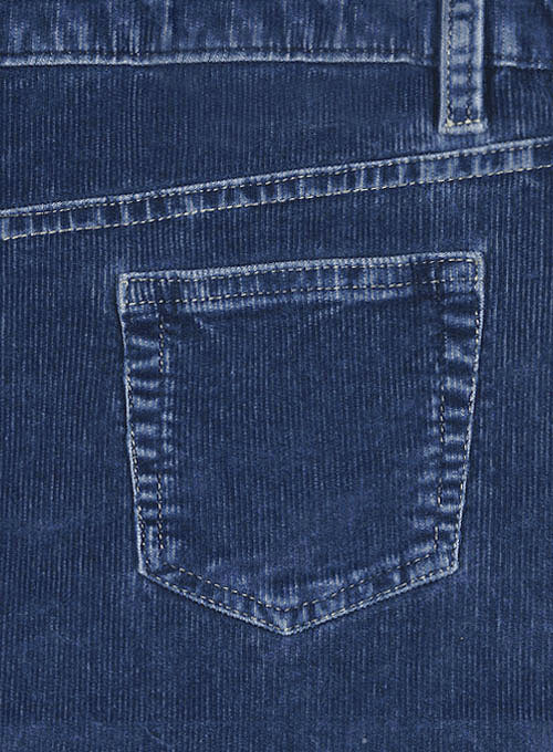Indigo Corduroy Stretch Jeans - Denim-X