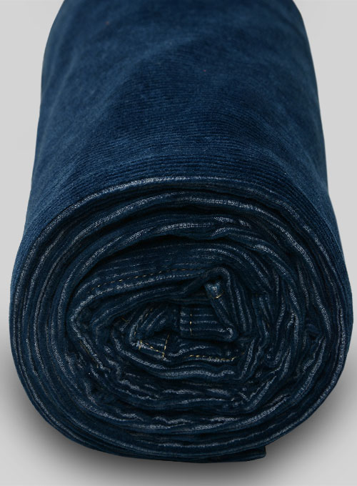 Indigo Corduroy Stretch Jeans - Hard Wash