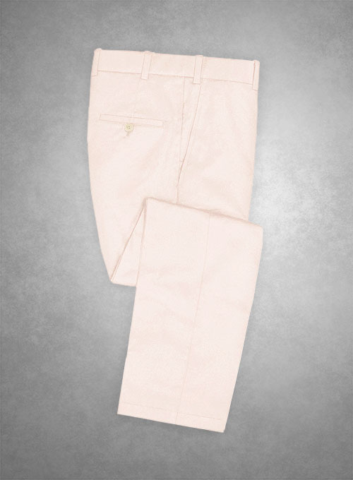 Italian Pale Pink Cotton Stretch Pants