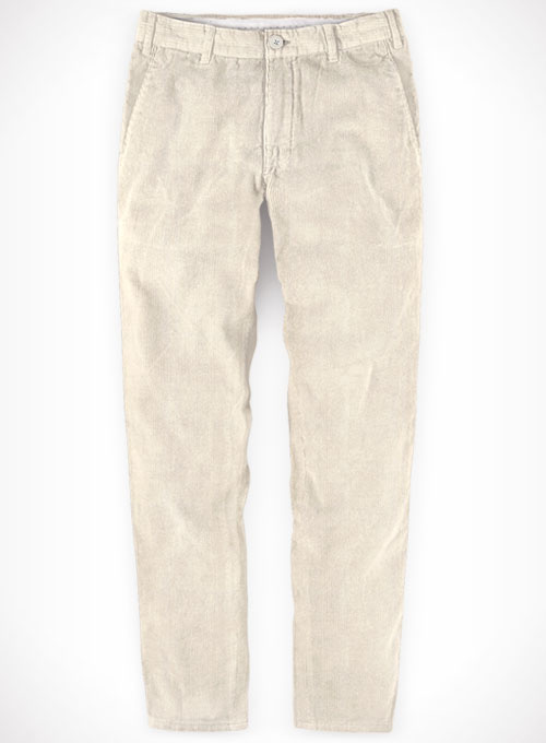 Light Beige Corduroy Trousers - Click Image to Close