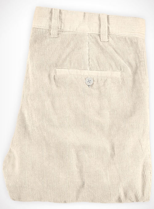 Light Beige Corduroy Trousers