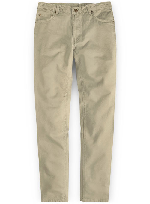 Light Khaki Stretch Chino Jeans