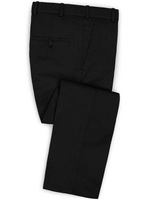 Napolean Black Wool Pants