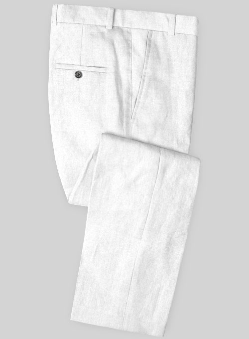 Safari White Cotton Linen Pants
