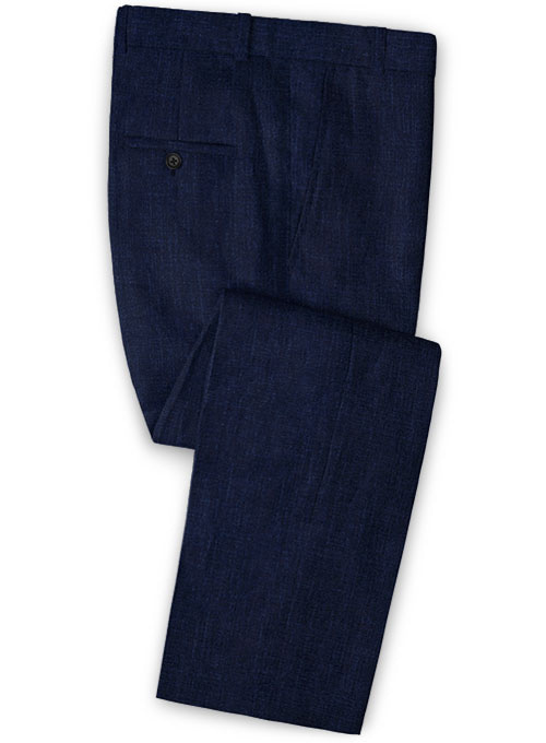 Solbiati Dark Blue Linen Pants