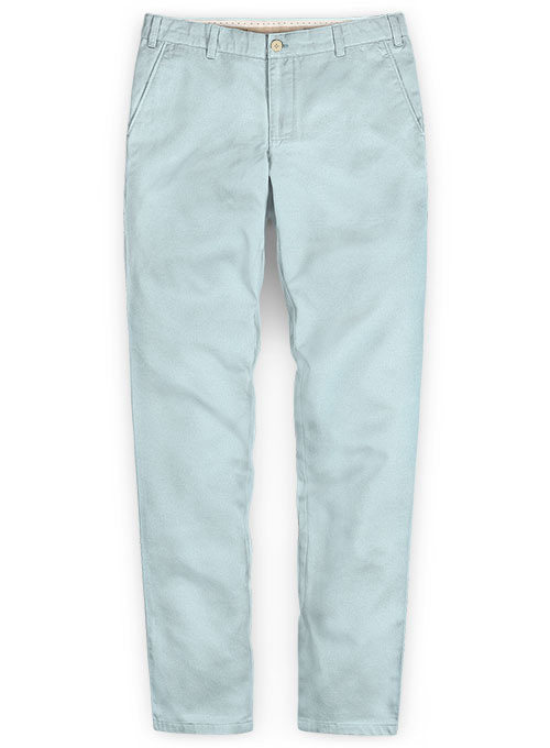 Stretch Summer Weight Spring Blue Chino Pants