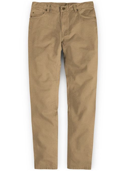 Stretch Summer Weight Dark Khaki Chino Jeans
