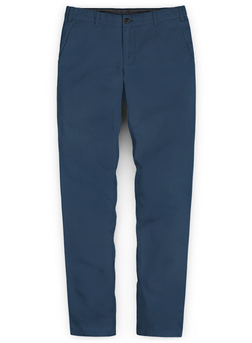 Stretch Summer Weight Ink Blue Chino Pants