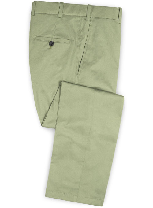 Stretch Summer Weight River Green Chino Pants