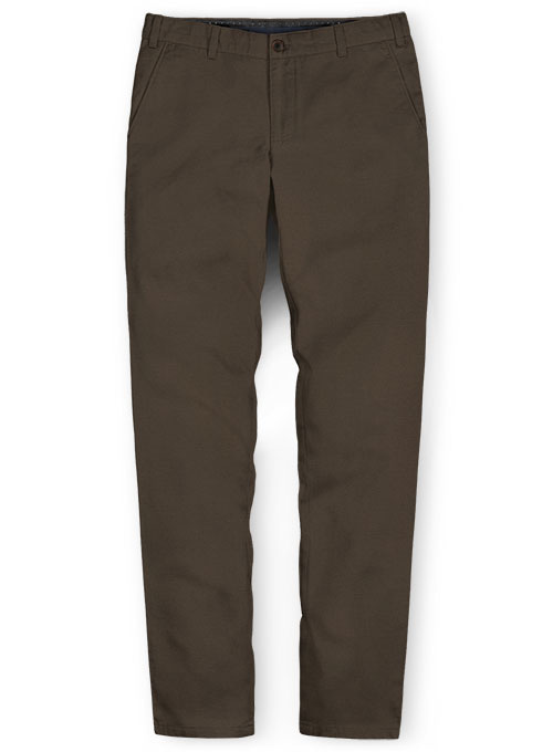 Dark Brown Stretch Chino Pants