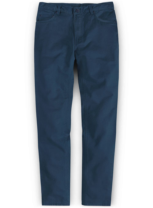 Stretch Summer Weight Ink Blue Chino Jeans