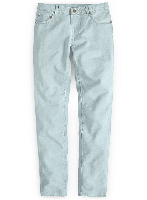 Stretch Summer Weight Spring Blue Chino Jeans