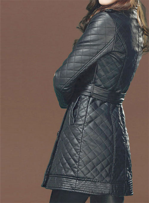 Isabel Leather Trench Coat # 518