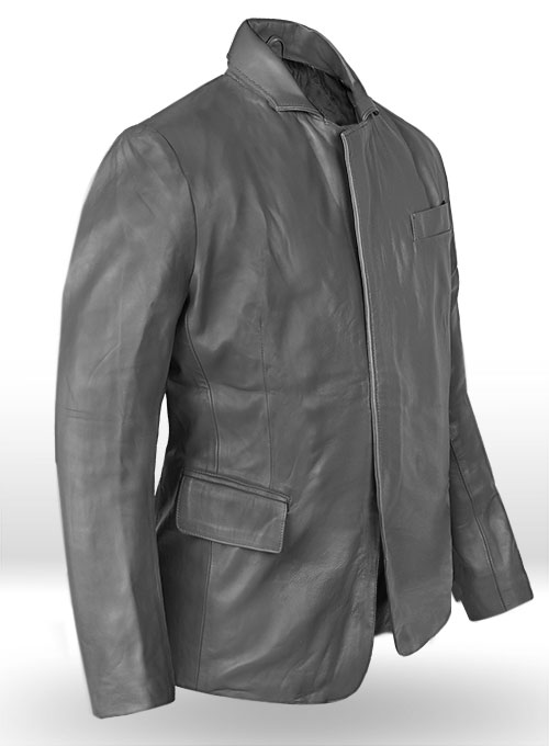 Gray Leather Jacket #611