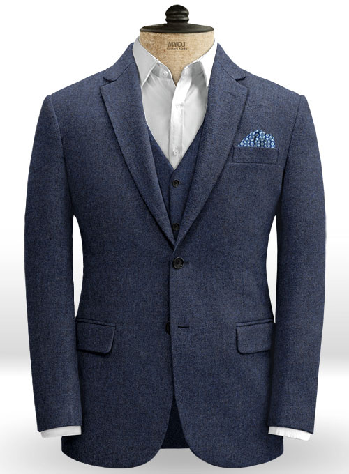 Royal Blue Denim Tweed Jacket