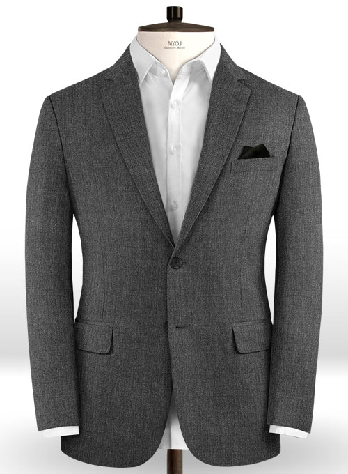 Scabal Carbon Gray Wool Jacket