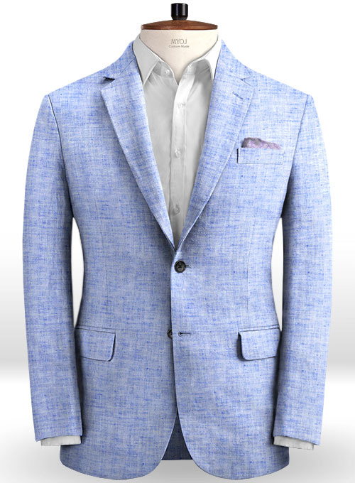 Solbiati Artic Blue Linen Jacket